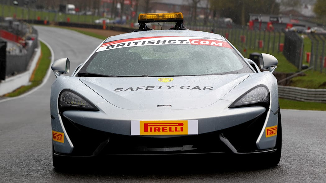 McLaren 570S British GT Championship Safety Car front