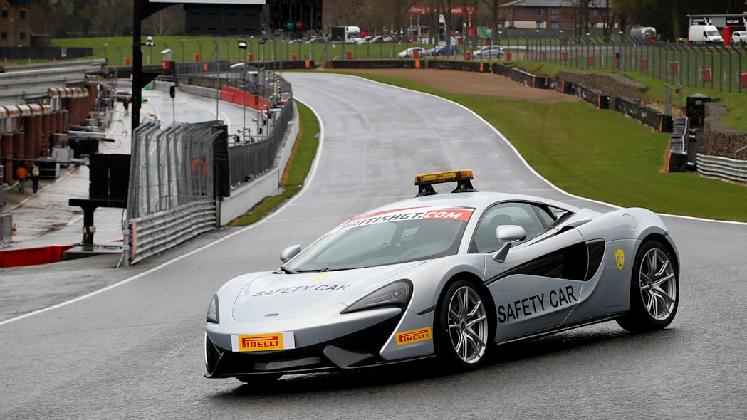 McLaren 570S British GT Championship Safety Car Brands Hatch