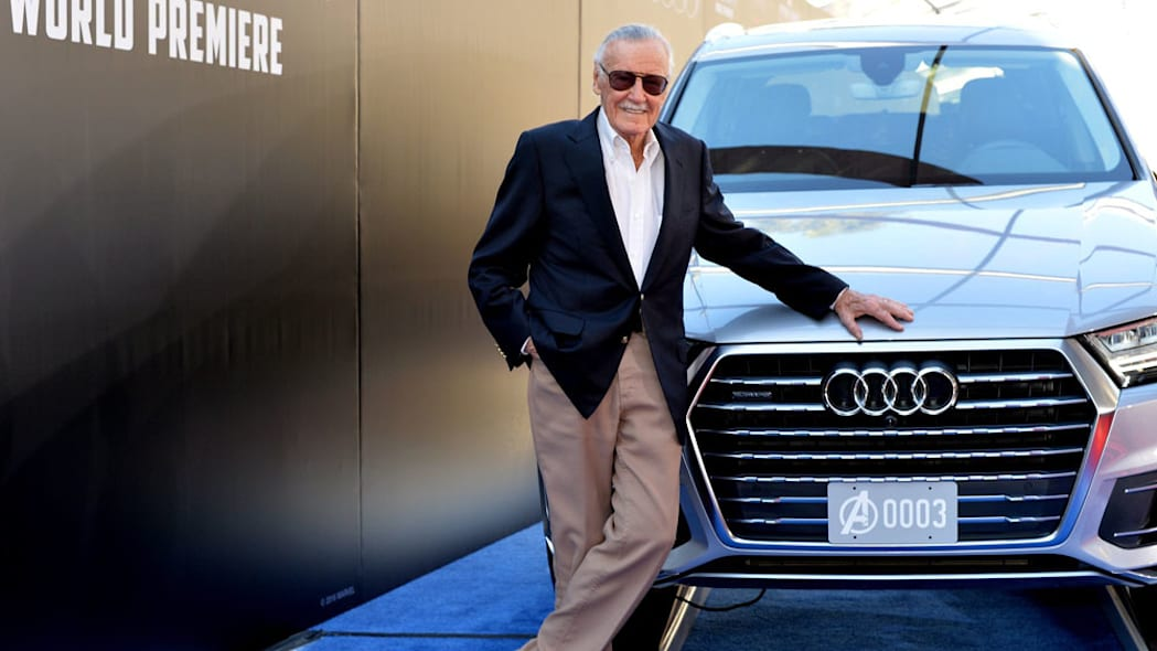 Stan Lee with Audi Q7