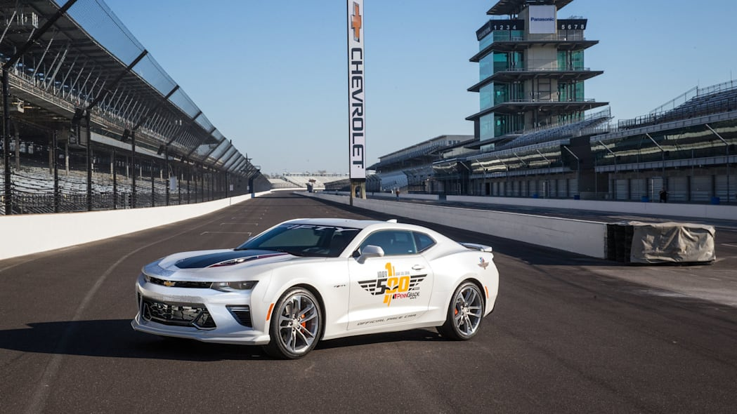 2017 chevy camaro ss 50th anniversary edition pace car on track