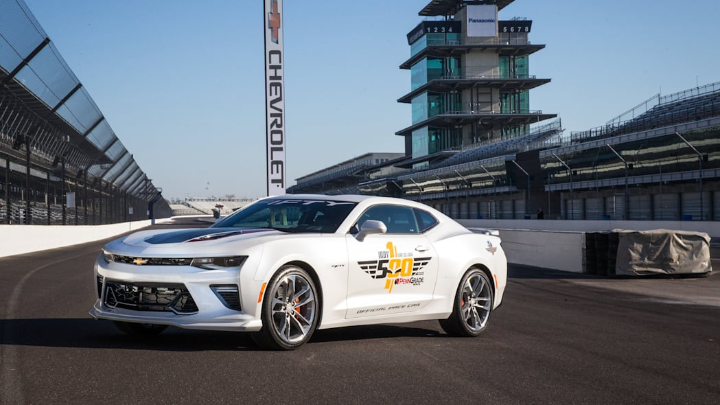 2017 chevy camaro ss 50th anniversary edition pace car on track low angle