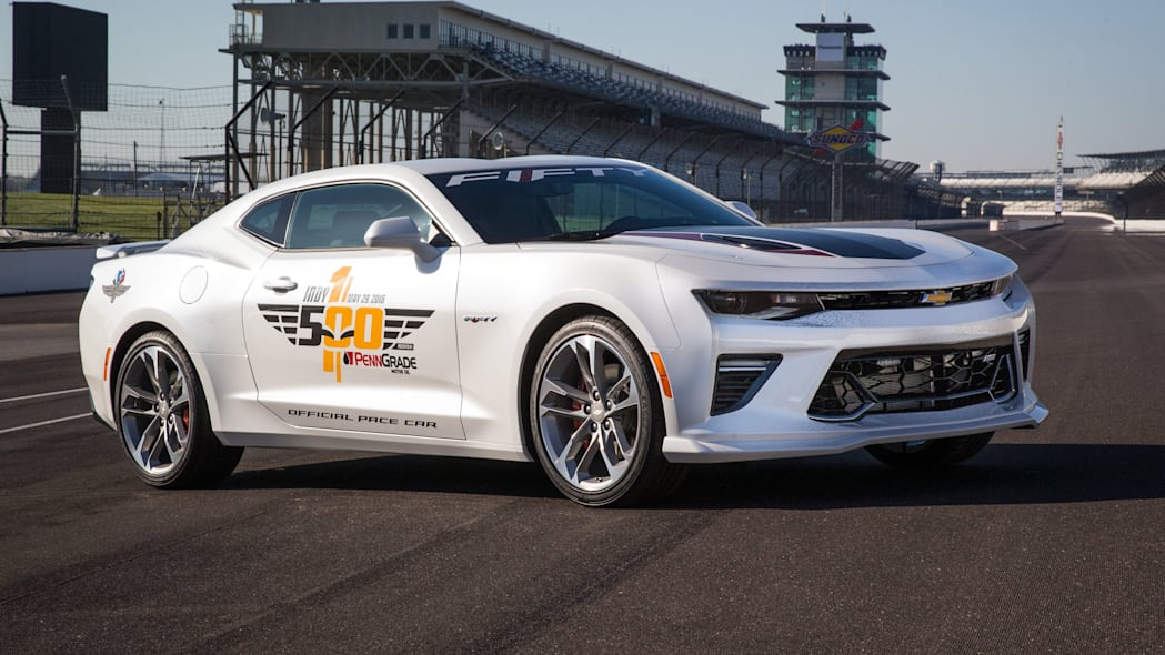 2017 chevy camaro ss 50th anniversary edition pace car on straight