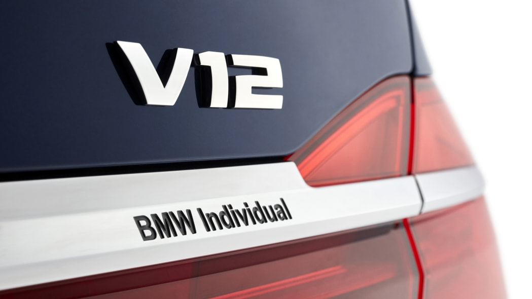 BMW M760i xDrive The Next 100 Years Edition rear badge