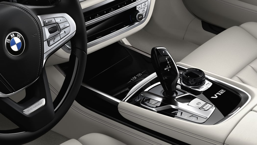 BMW M760i xDrive The Next 100 Years Edition interior console