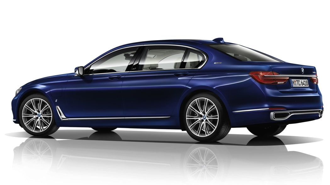 BMW M760i xDrive The Next 100 Years Edition rear 3/4 white