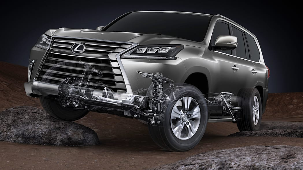 Lexus LX 570 suspension illustration