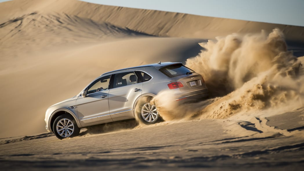 Bentley Bentayga dune bashing
