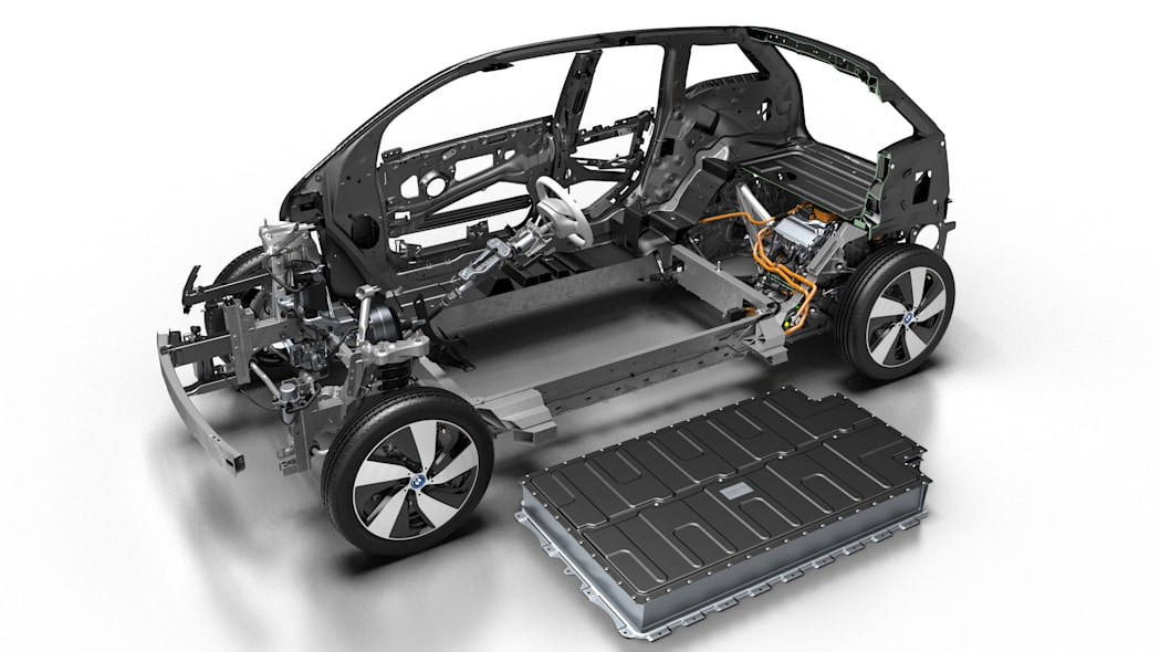 2017 BMW i3 cutaway with battery pack
