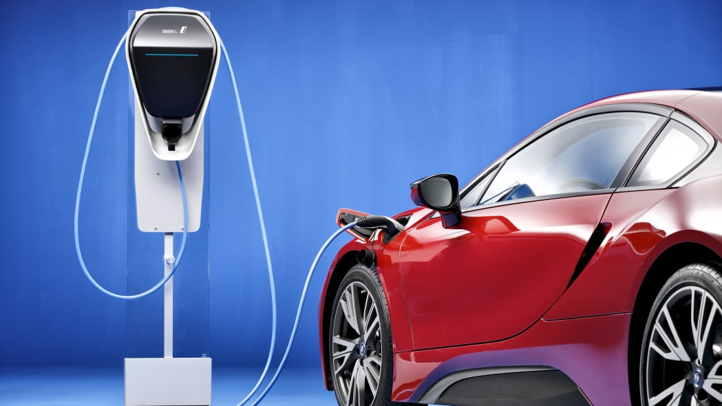 2017 BMWi charging station with red i8
