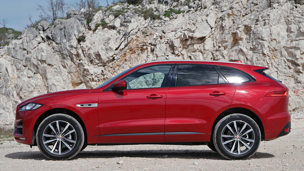 2017 Jaguar F-Pace side view