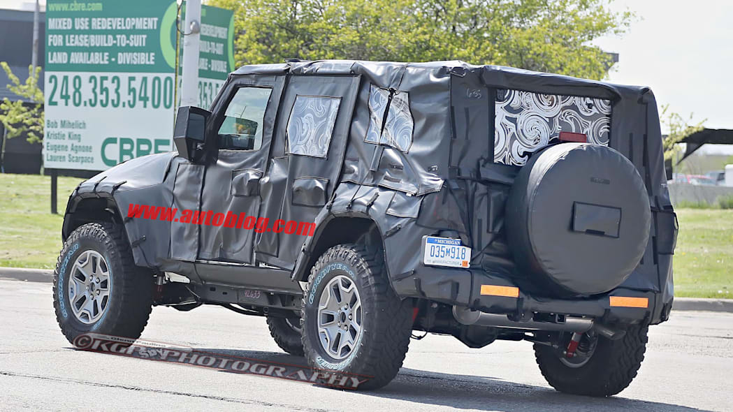 2018 jeep wrangler unlimited spy pic rear