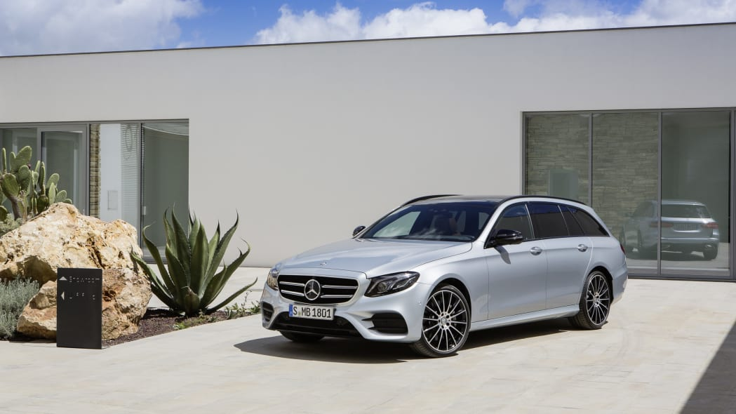 2017 mercedes-benz e400 wagon front parked