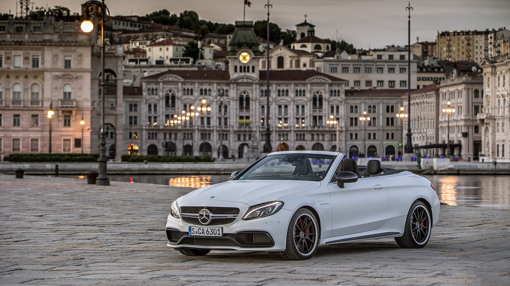 2017 Mercedes-AMG C63 S Cabriolet front 3/4 view