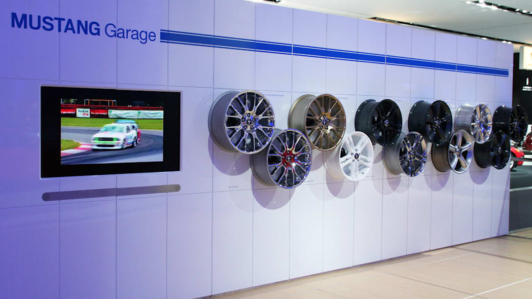 Mustang Garage display