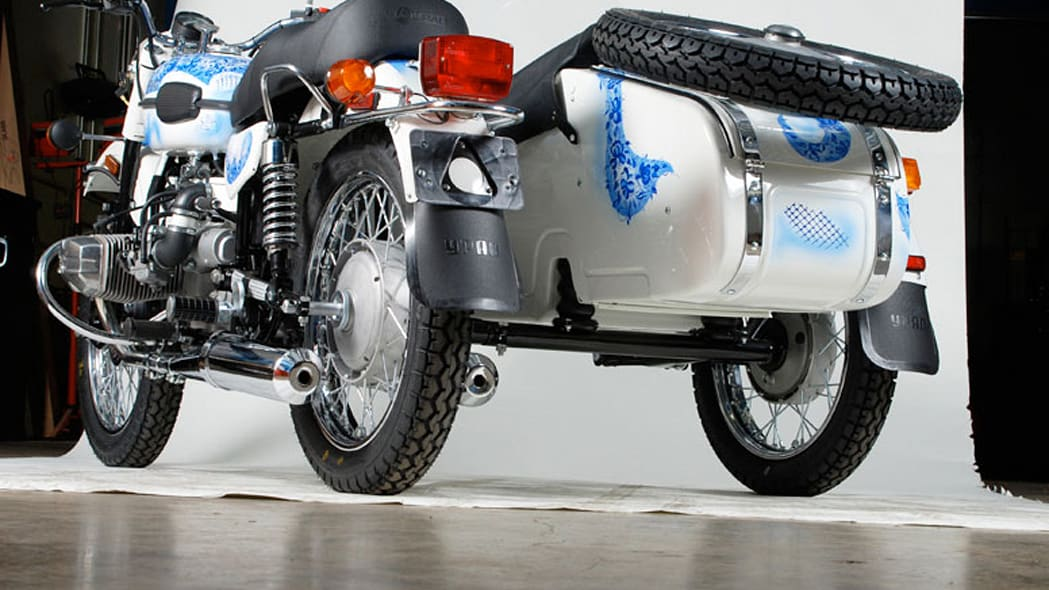 Ural to auction custom-painted Gzhel sidecar motorcycle ...