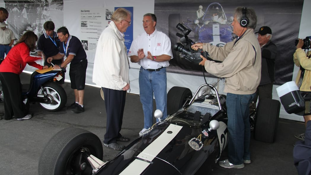 Dan Gurney with new owner of No 27