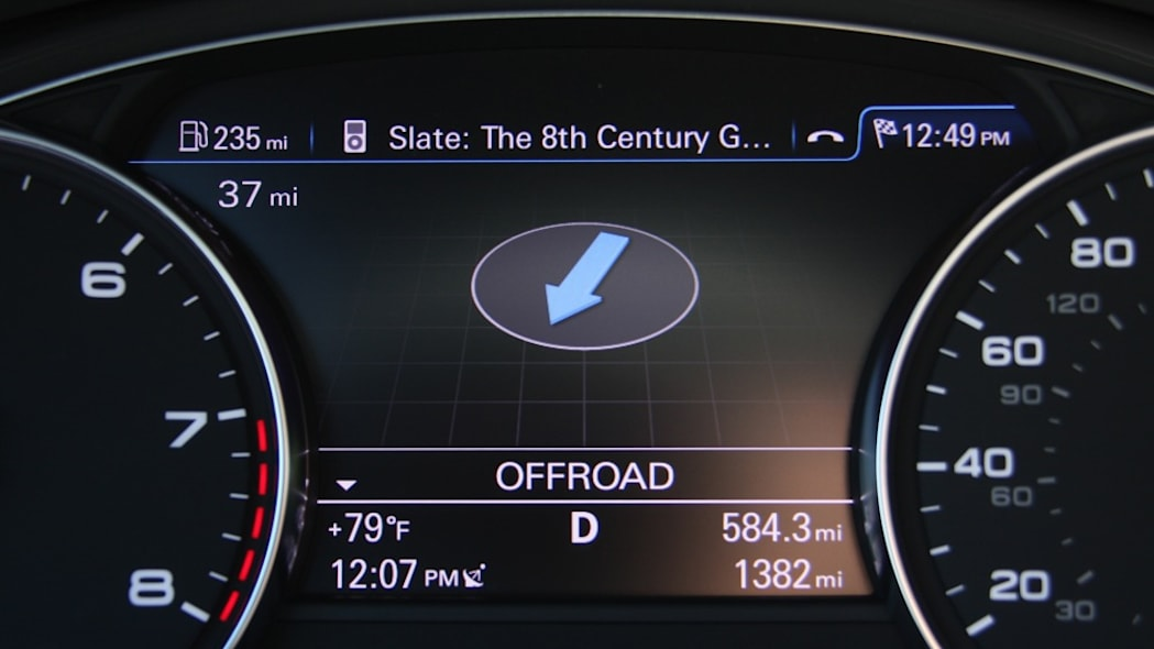 2011 Audi A8 information display