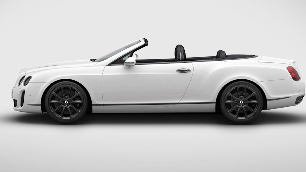 Bentley Continental Ice Speed Record side top down
