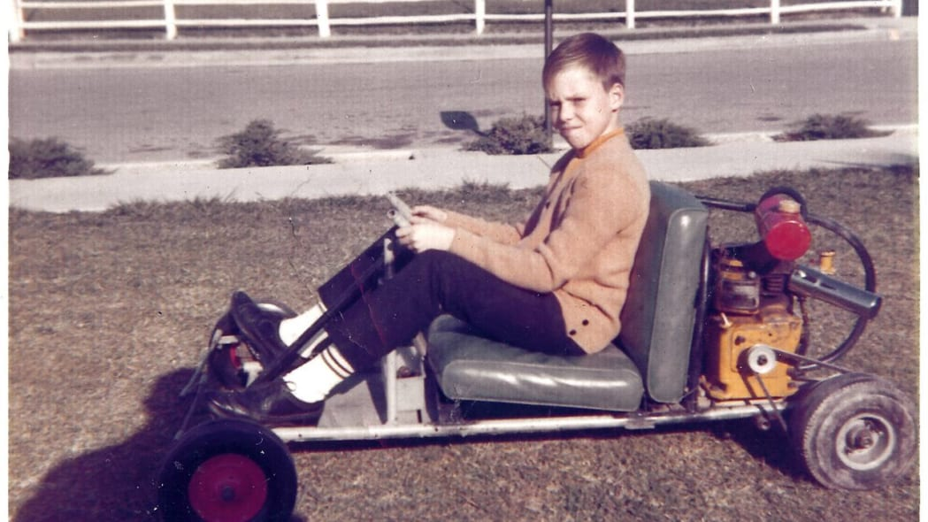 George Fortin's first kart