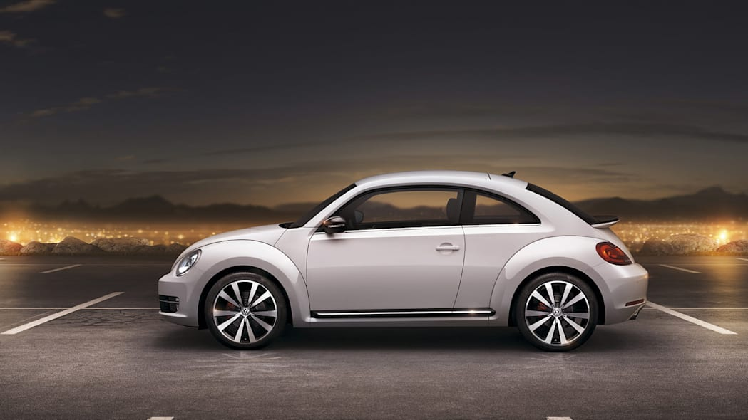 2012 Volkswagen Beetle exterior from side in white