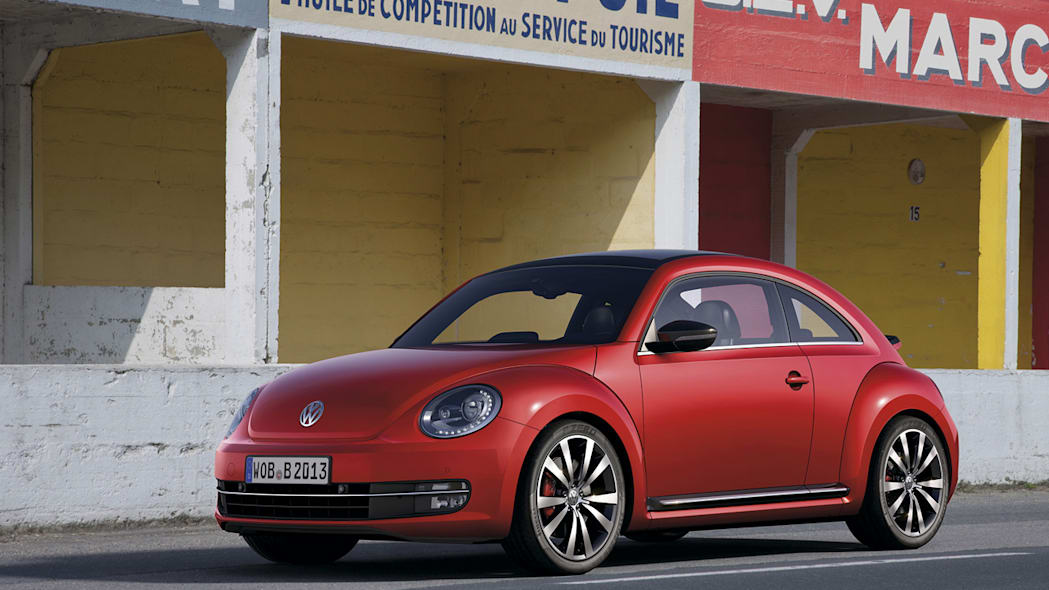 2012 Volkswagen Beetle in red, exterior