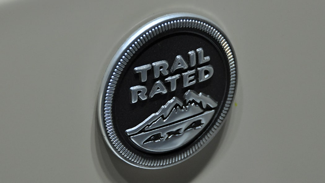 2011 Jeep Wrangler Mojave Trail Rated badge at the 2011 New York Auto Show