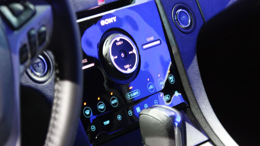 2013 Ford Taurus SHO center console at the 2011 New York Auto Show