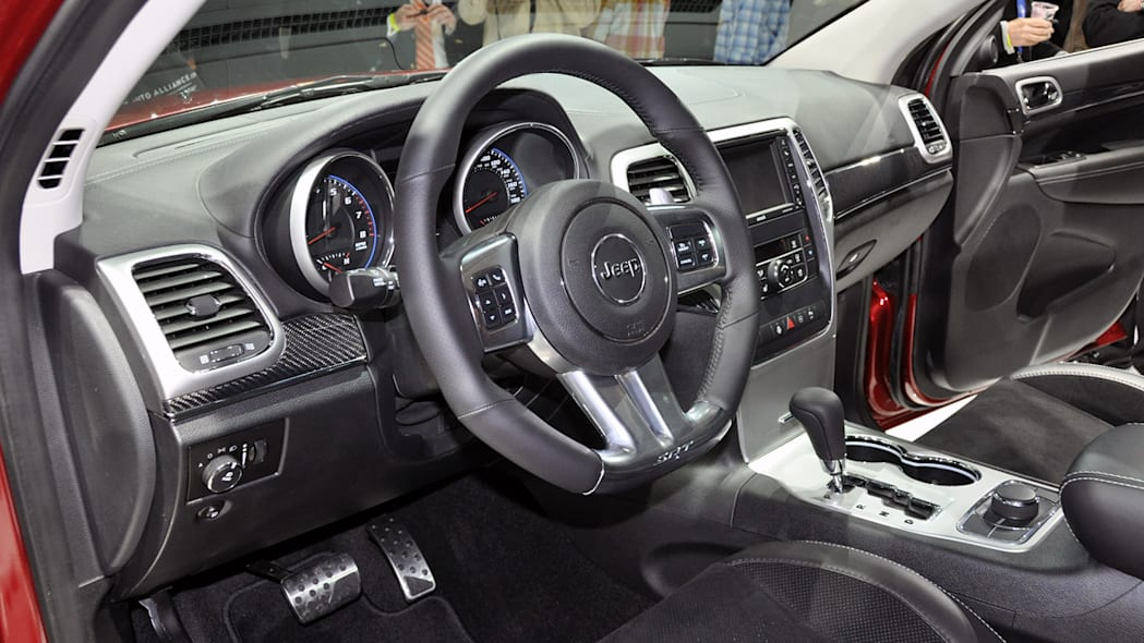 2012 Jeep Grand Cherokee SRT8 interior at the 2011 New York Auto Show