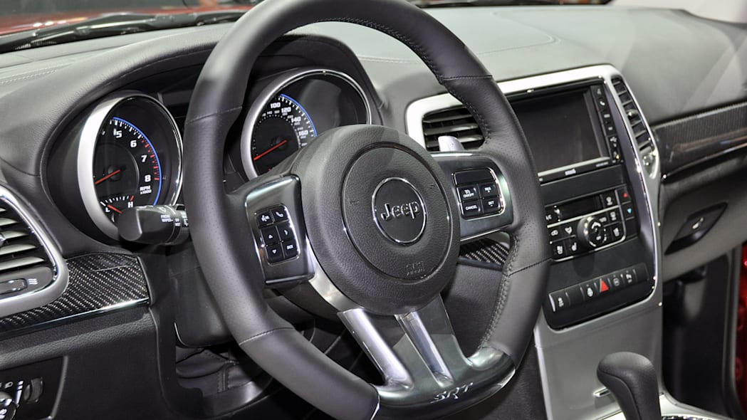 2012 Jeep Grand Cherokee SRT8 steering wheel at the 2011 New York Auto Show