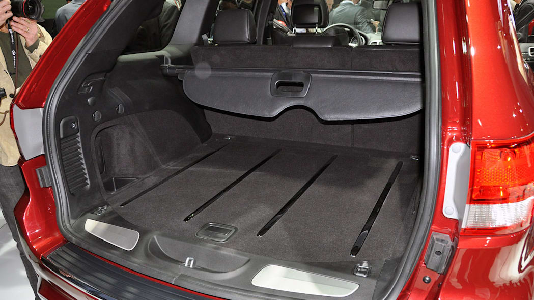 2012 Jeep Grand Cherokee SRT8 rear cargo area at the 2011 New York Auto Show