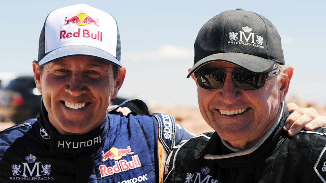 Rhys and Rod Millen at the 2011 Pikes Peak Hill Climb