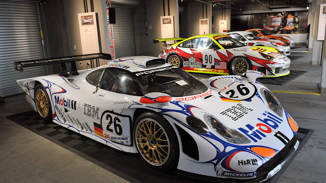 Historic 911 Race Car Display at Rennsport IV