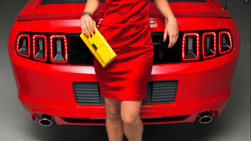 Dalena Henriques and Ford Mustang