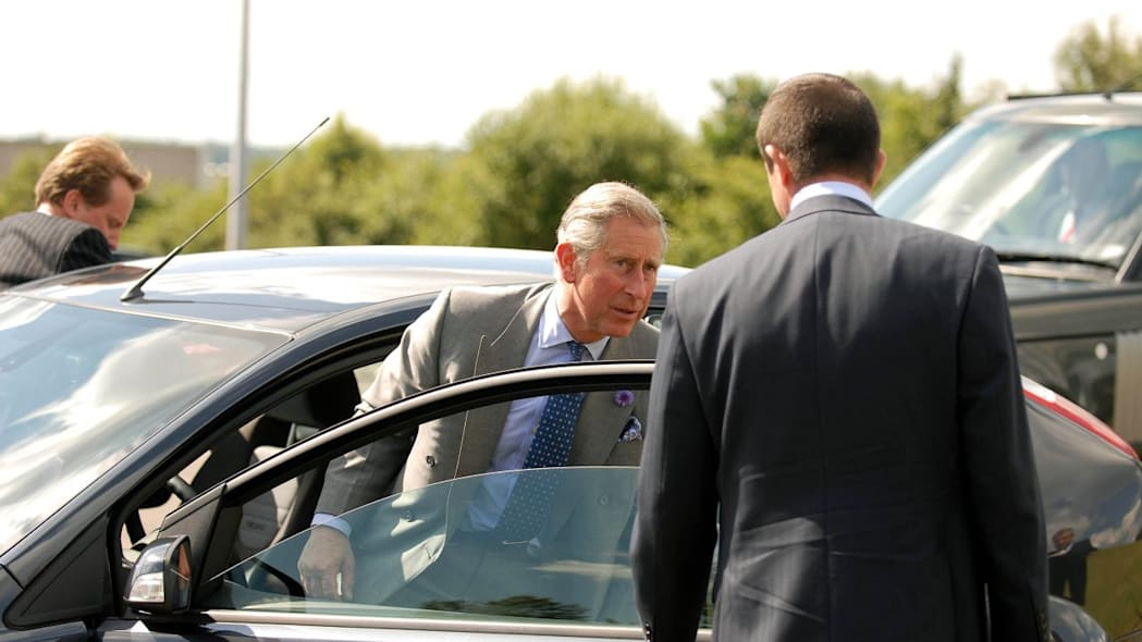 Prince Charles tests drive a 70 MPG Ford Focus