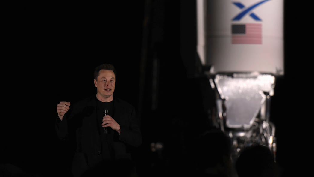SpaceX's Elon Musk gives an update on the company's Mars rocket Starship in Boca Chica, Texas U.S. September 28, 2019. REUTERS/Callaghan O'Hare