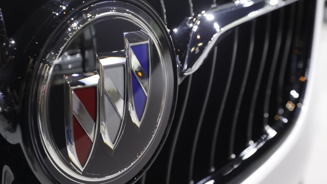 A Buick automobile sits on display at the Chicago Auto Show Thursday, Feb. 8, 2018, in Chicago. (AP Photo/Charles Rex Arbogast)