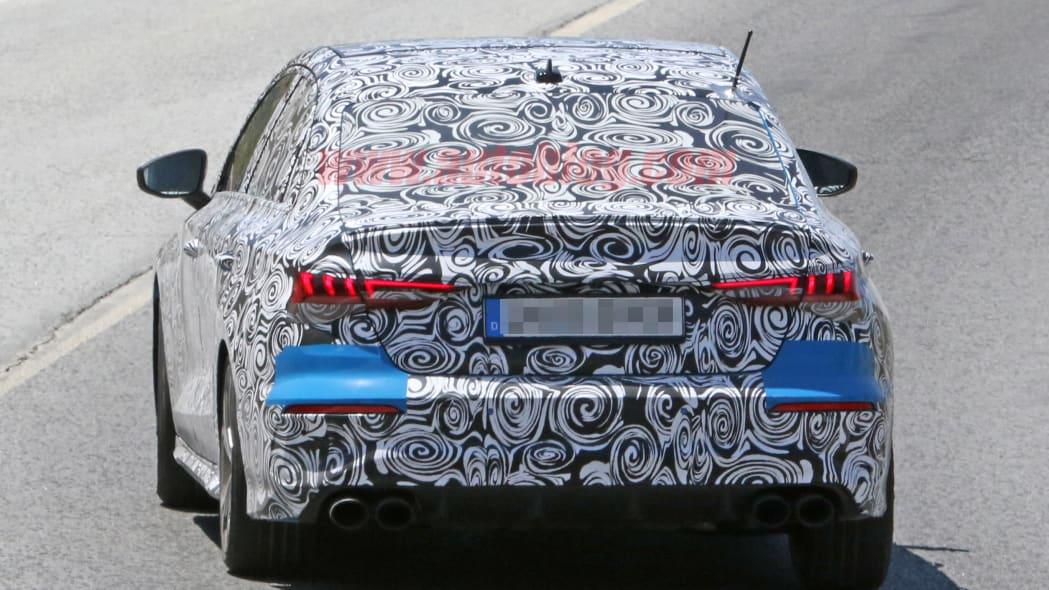 2020 Audi S3 sedan spy shot