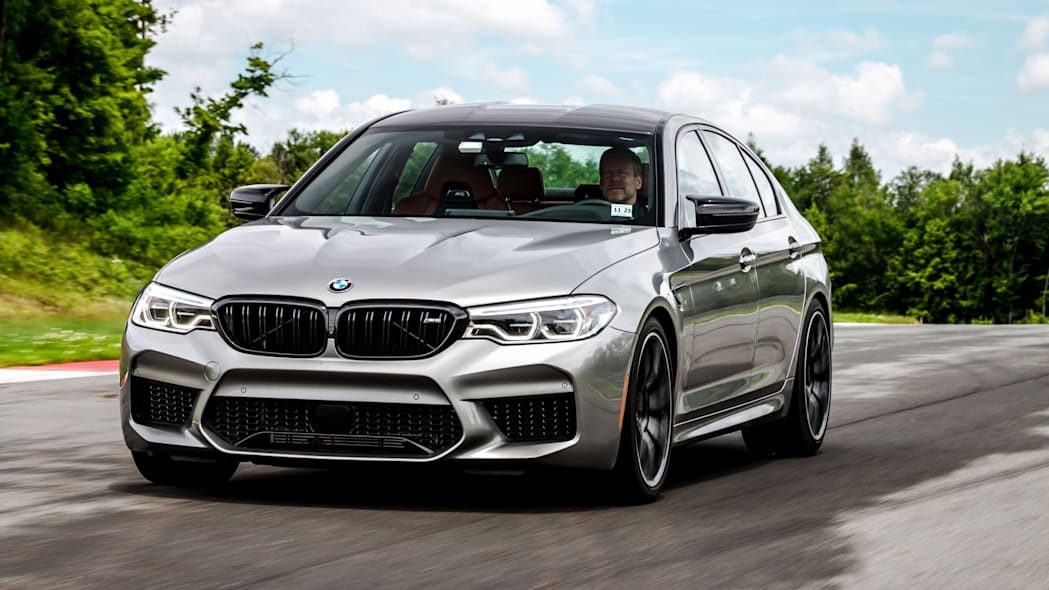 2020 BMW M5 Competition sport sedan on track driving