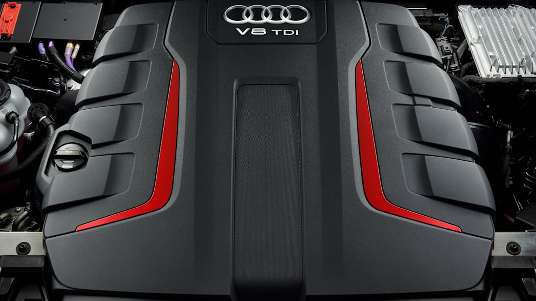 Audi SQ8 TDI Engine compartment