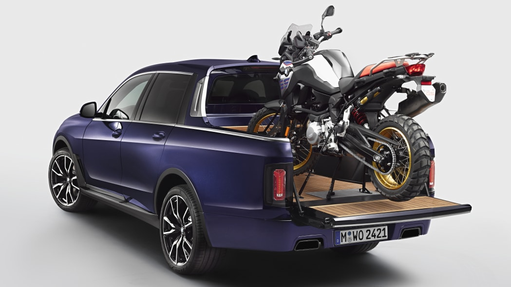 This BMW X7 pickup is the most opulent way to haul your motorcycle