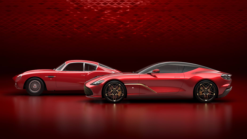 2020 Aston Martin DBS GT Zagato next to DB4 GT Zagato