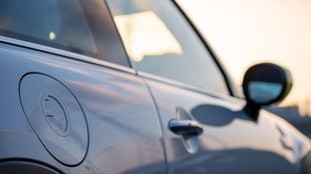Mini Cooper SE electric hatchback charge door