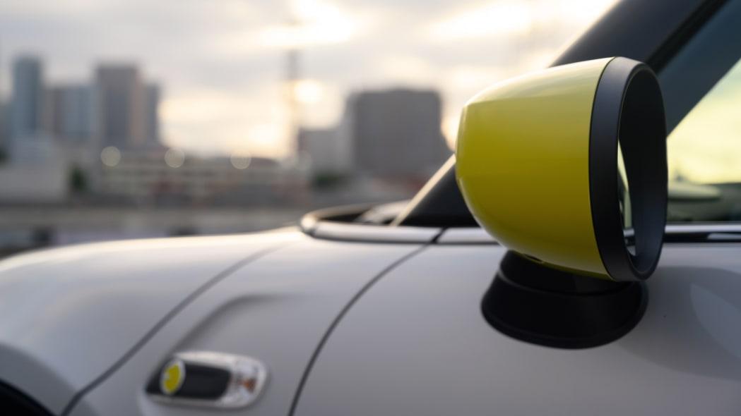 Mini Cooper SE electric hatchback mirror