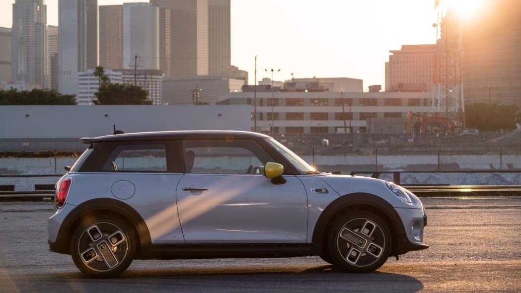 Mini Cooper SE electric hatchback profile