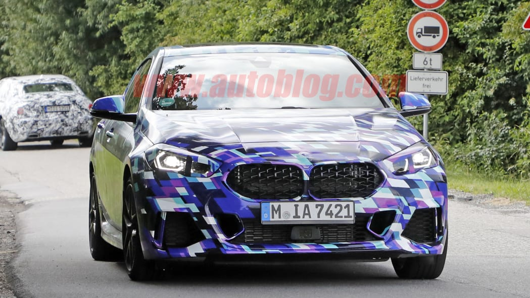 BMW 2 Series Gran Coupe spied testing in colorful camouflage