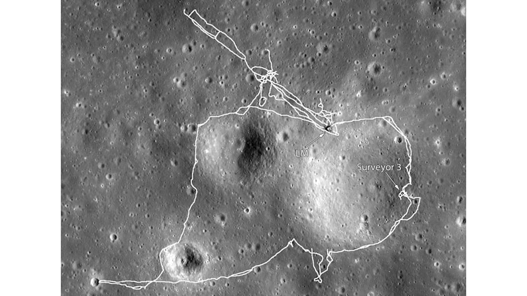 Apollo 17 LRV routes