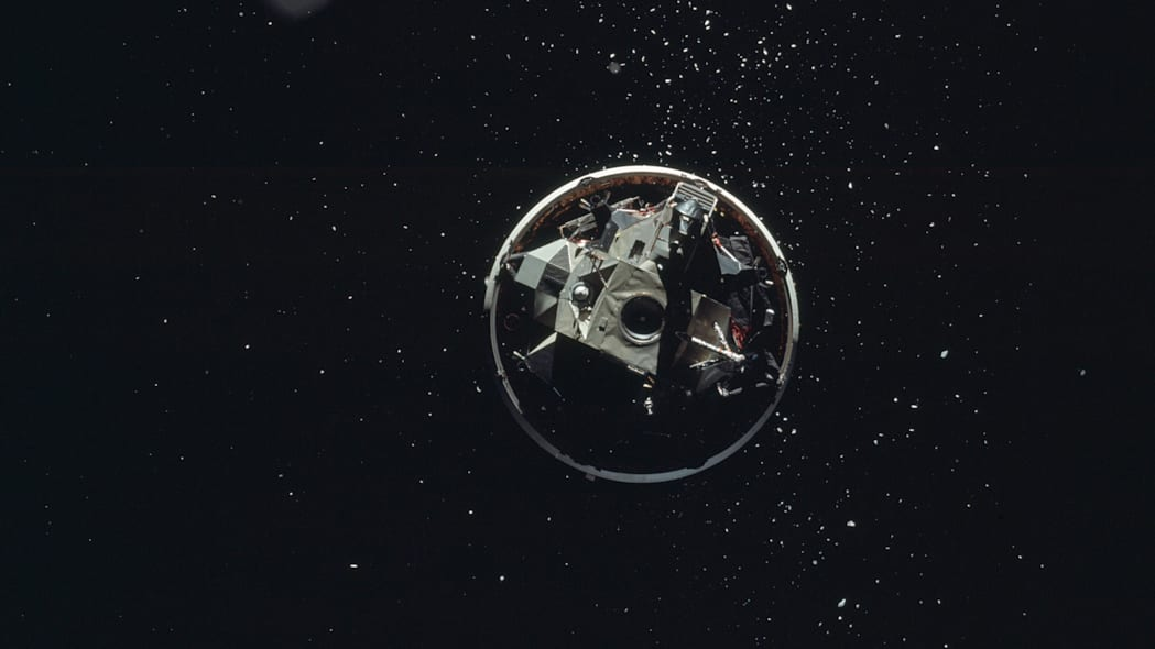 Apollo 17 LM before docking