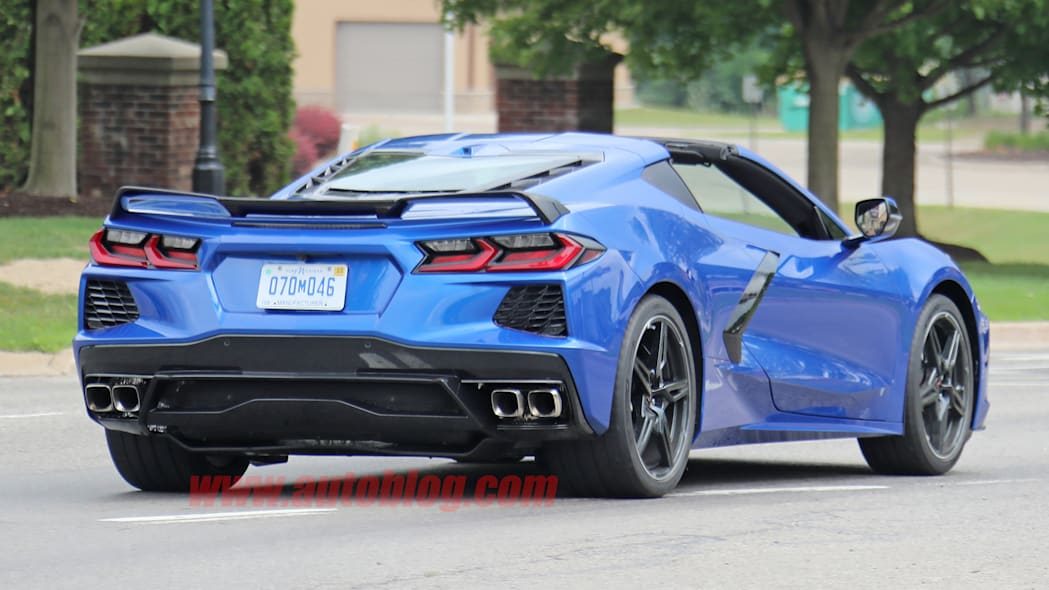 2020 Chevy Corvette Stingray in metallic blue