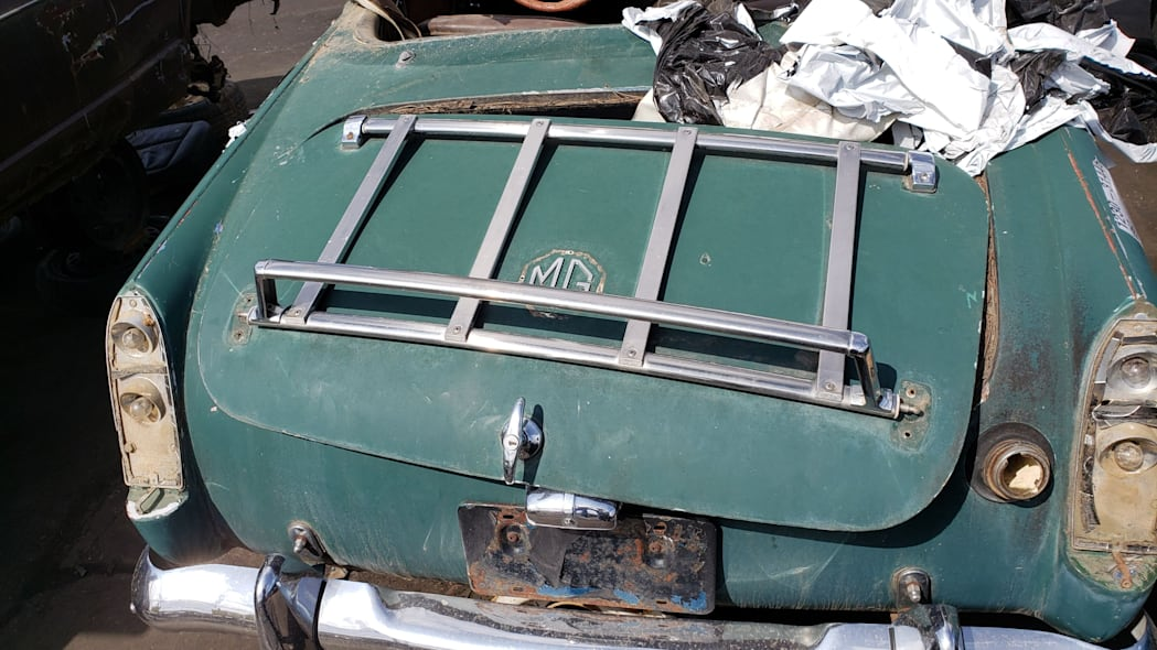 1967 MG Midget in Colorado wrecking yard