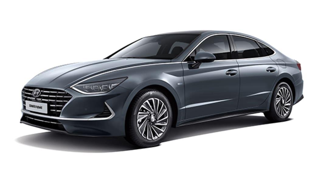 2020 Hyundai Sonata Hybrid front 3/4